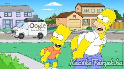 Simpons vs Google Street view
