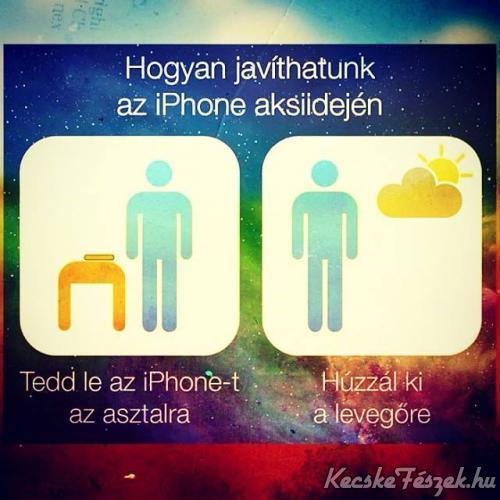 Iphone akkumul�tor id� n�vel�se