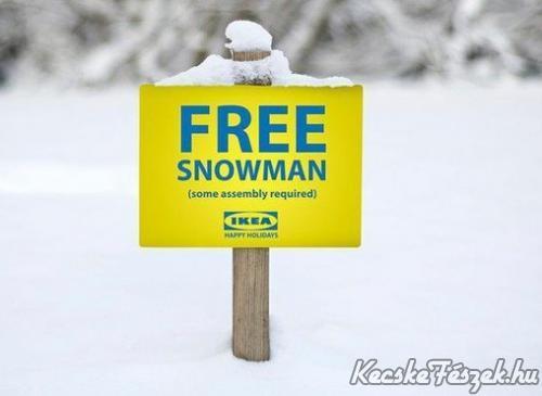 Hóember az IKEÁból