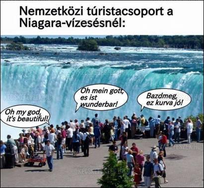 Niagara vízesésnél