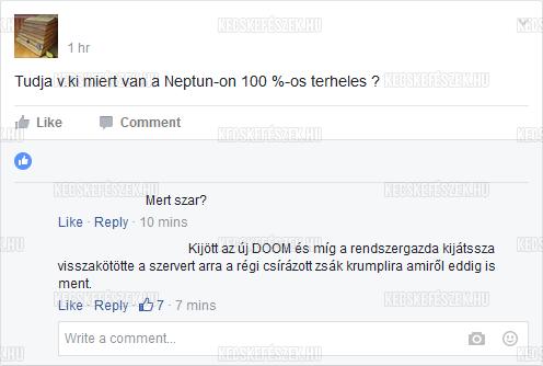 Neptun hiba oka
