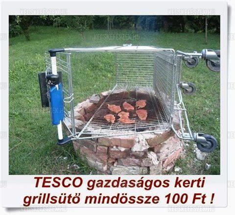 TESCO Gazdas�gos kerti grills�t� most csak 100 FT