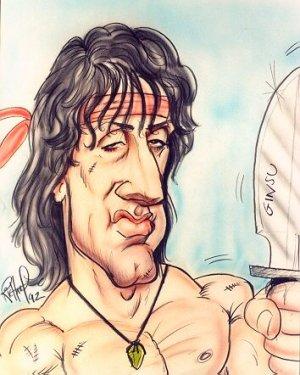 Rambo karikatúra